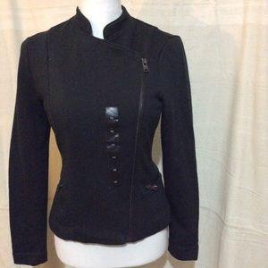 Asymmetrical Full Zipper Jacket